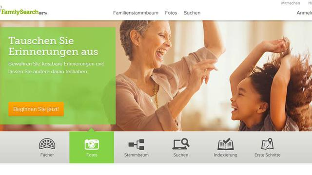 Neue Version von FamilySearch.org
